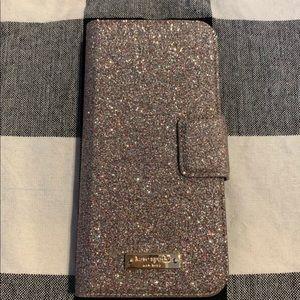 Glitter Kate Spade iPhone wallet